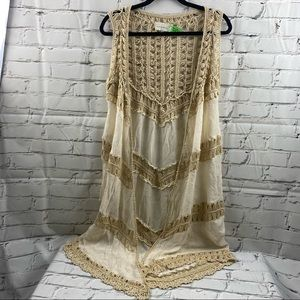 Dreamers knit long sleeveless cover up
